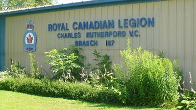Photograph of Royal Canadian Legion, Captain Charles S. Rutherford VC Branch 187, Colborne, Cramahe Township