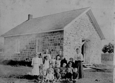 Photograph of Shiloh School, S.S.21, Cramahe Township ca.1890