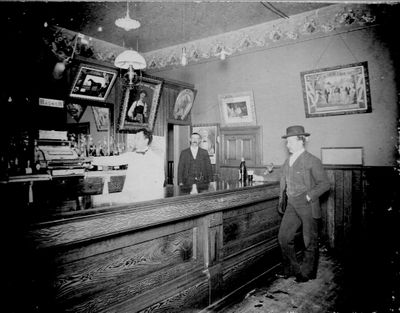 Photograph of the interior of Brunswick Hotel bar room, Colborne, Cramahe Township
