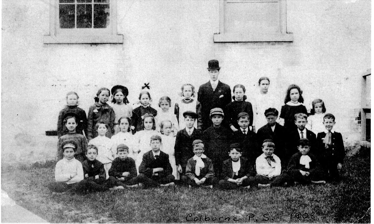 Photograph of Colborne School, Cramahe Township, 1908