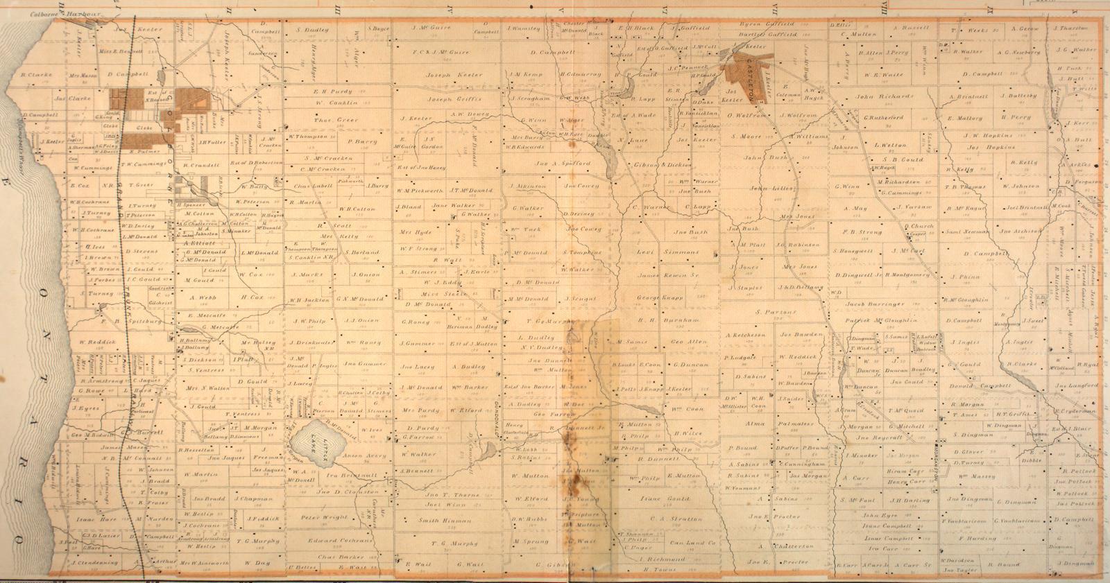 Map of Cramahe Township, 1878