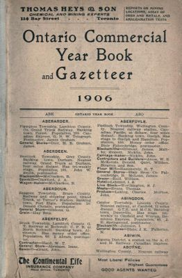 Ontario Commercial Year Book and Gazetteer: 1906