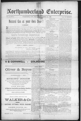 Northumberland Enterprise (18910430), 30 Apr 1891