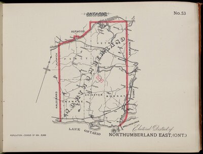 Electoral Atlas of the Dominion of Canada (1895) Northumberland East, Cramahe Township