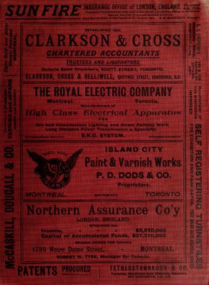 Dominion of Canada and Colony of Newfoundland Gazetteer and Classified Business Directory, 1899