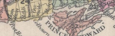 Cramahe Township map detail, British Possessions, North America, 1855