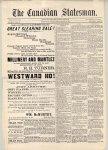 Canadian Statesman (Bowmanville, ON), 23 Jan 1885