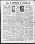 Canadian Statesman (Bowmanville, ON), 6 Aug 1931