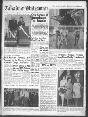 Canadian Statesman (Bowmanville, ON), 5 Nov 1969