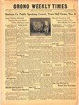 Orono Weekly Times, 4 Nov 1943