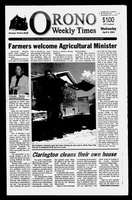 Orono Weekly Times, 9 Apr 2003