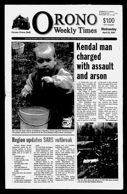 Orono Weekly Times, 23 Apr 2003