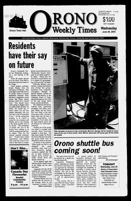 Orono Weekly Times, 25 Jun 2003