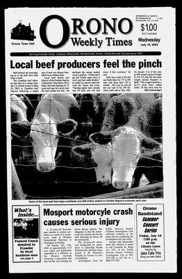 Orono Weekly Times, 16 Jul 2003
