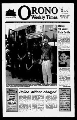 Orono Weekly Times, 23 Jul 2003