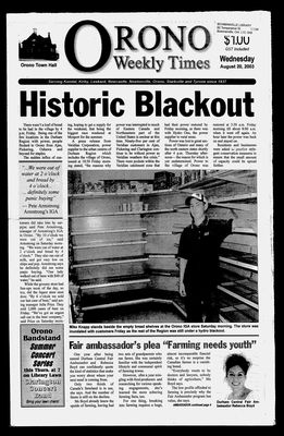 Orono Weekly Times, 20 Aug 2003