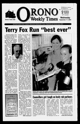 Orono Weekly Times, 17 Sep 2003