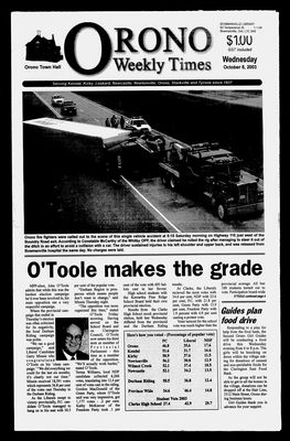 Orono Weekly Times, 8 Oct 2003