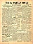 Orono Weekly Times, 11 May 1950