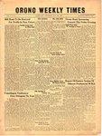 Orono Weekly Times, 9 Nov 1950