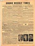 Orono Weekly Times, 15 Nov 1951