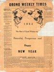 Orono Weekly Times, 27 Dec 1951