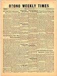 Orono Weekly Times, 2 May 1957