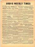 Orono Weekly Times, 22 May 1958