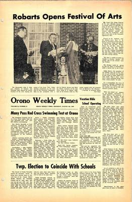 Orono Weekly Times, 7 Aug 1969