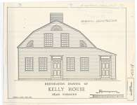 Scaled restoration drawing of Kelly House