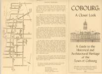 "Pamphlet entitled ""Cobourg: a closer look : a guide to the Historical and Architectural Heritage of the Town of Cobourg"""