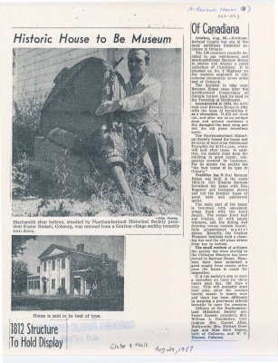 Article on turning Barnum House into a museum