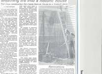 Article on beginning major restoration of Barnum House in 1984.