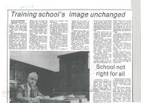 "Article entitled ""Training school's image unchanged"""
