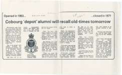 Cobourg depot alumni will recall old-times tomorrow