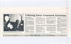 "Article entitled ""Cobourg loses treasured historian"""