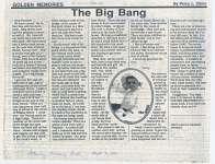 "Article entitled ""The big bang"""