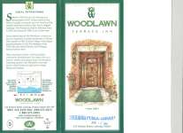 Brochure from the Woodlawn Terrace Inn at 420 Division St