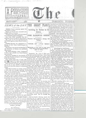 Article from the Globe regarding a devastating storm in 1889.