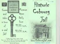 """Historic Cobourg Jail"" promotional brochure, now an Inn & Restaurant."