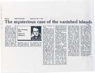 "Article entitled ""The mysterious case of the vanished islands"""