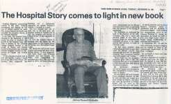 Article about James Russell McIlraith's book, The Hospital Story.