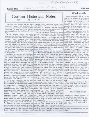 Article about the buildings that have survived since Grafton's early years.