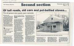 Article about Roy Goody's service station