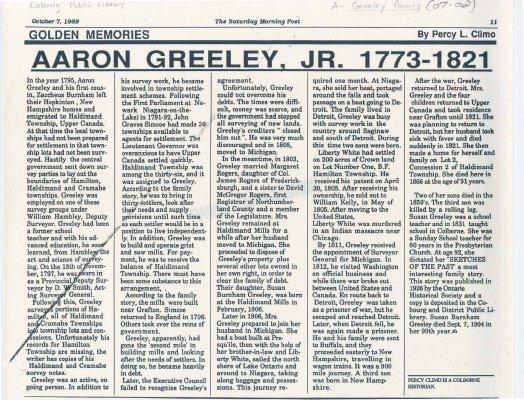 Bio of Aaron Greeley, Jr.