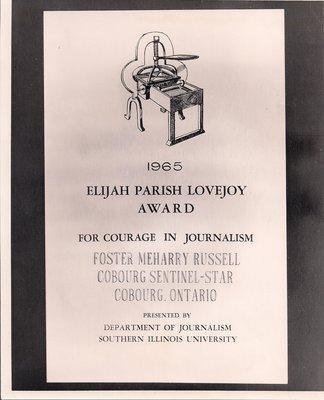 1965 Elijah Parish Lovejoy Award
