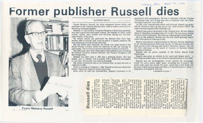 Former publisher Russell dies