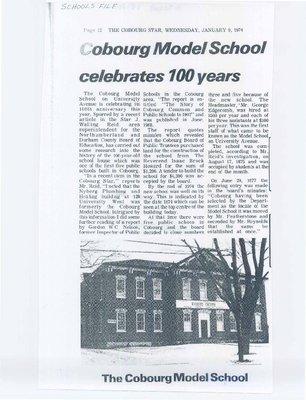 Cobourg Model School celebrates 100 years