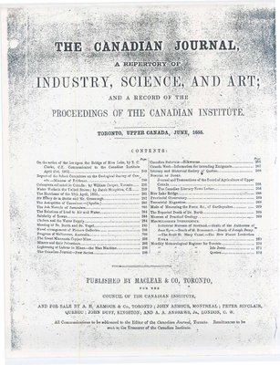 The Canadian Journal- A Repertory Of Industry, Science, And Art