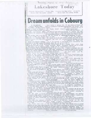 Dream unfolds in Cobourg
